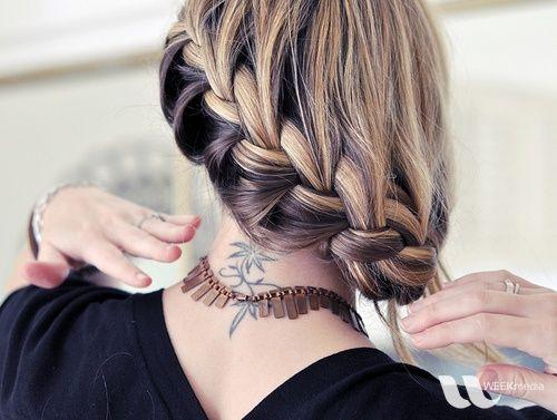 braid, blonde, brown
