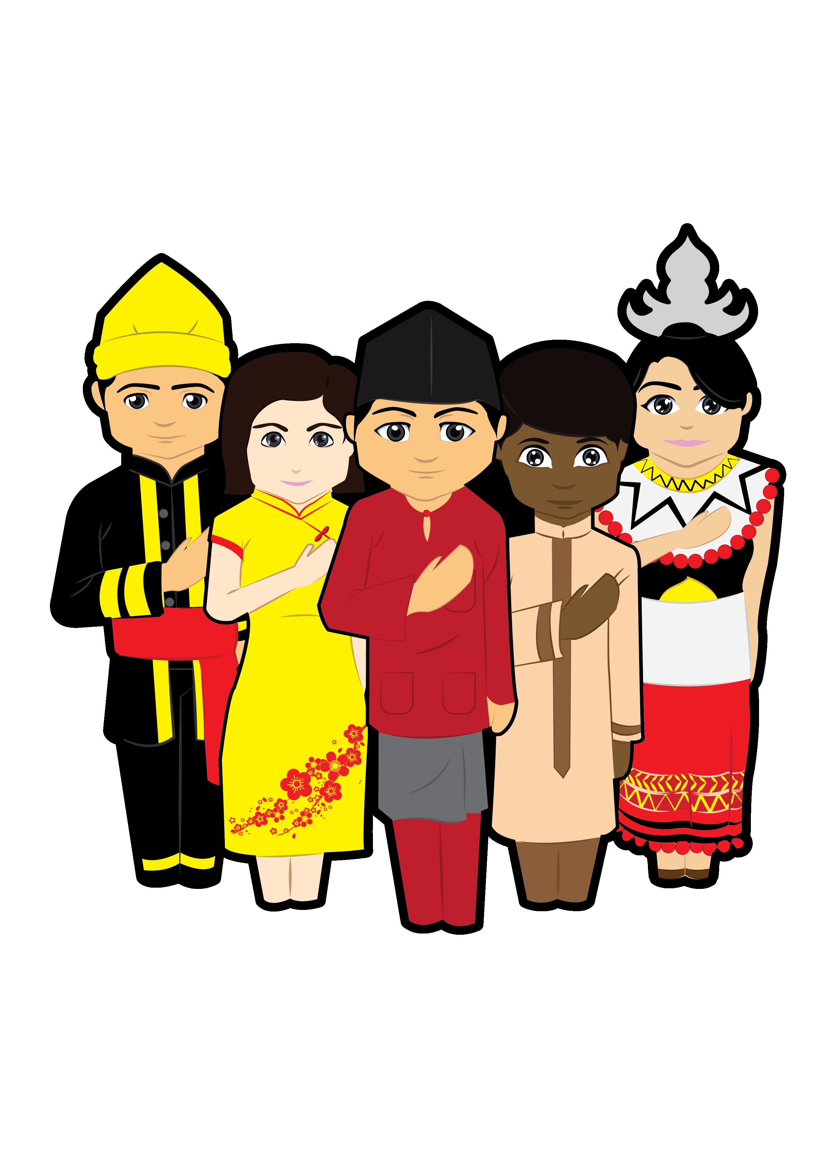 MALAYSIAN + CULTURE | MY ARTWORK | Character design, Logo