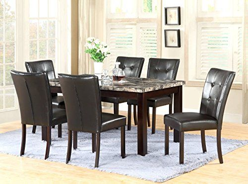Gtu Furniture 7 Piece 64x38 Dining Room Kitchen Table Set With
