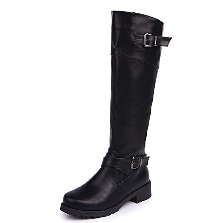 43c6757004a Anokar Bottes Femme Cuir Hiver Knee Boots Equitation Boots Femme Biker Bottes  Hautes Longue Fermeture Eclair