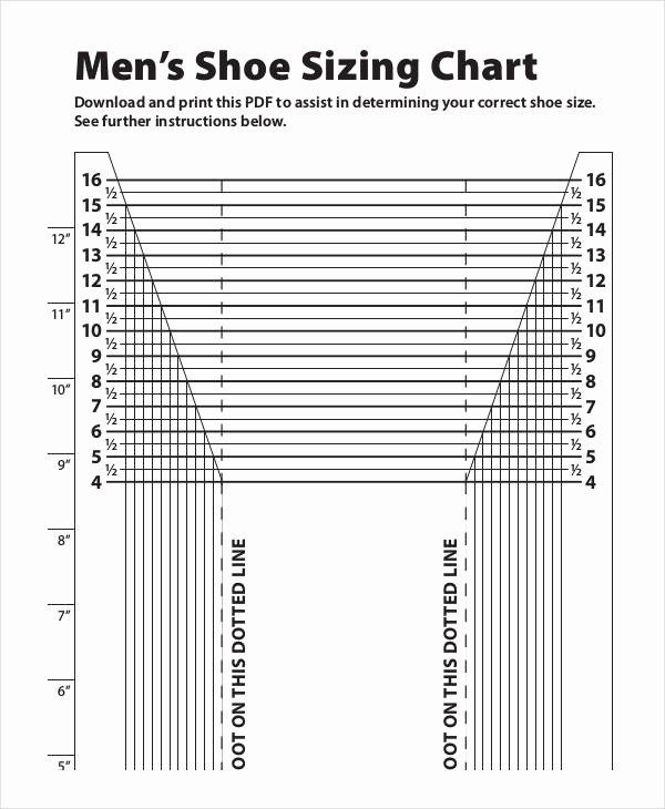 Foot Measurement Chart Printable Best Of 26 Of Men S Foot Size Template In 2020 Shoe Size Chart Size Chart Measurement Chart