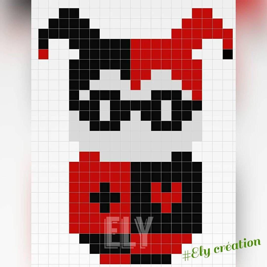 Harley Quinn perler bead pattern - hamaperlerely | Crafts ...