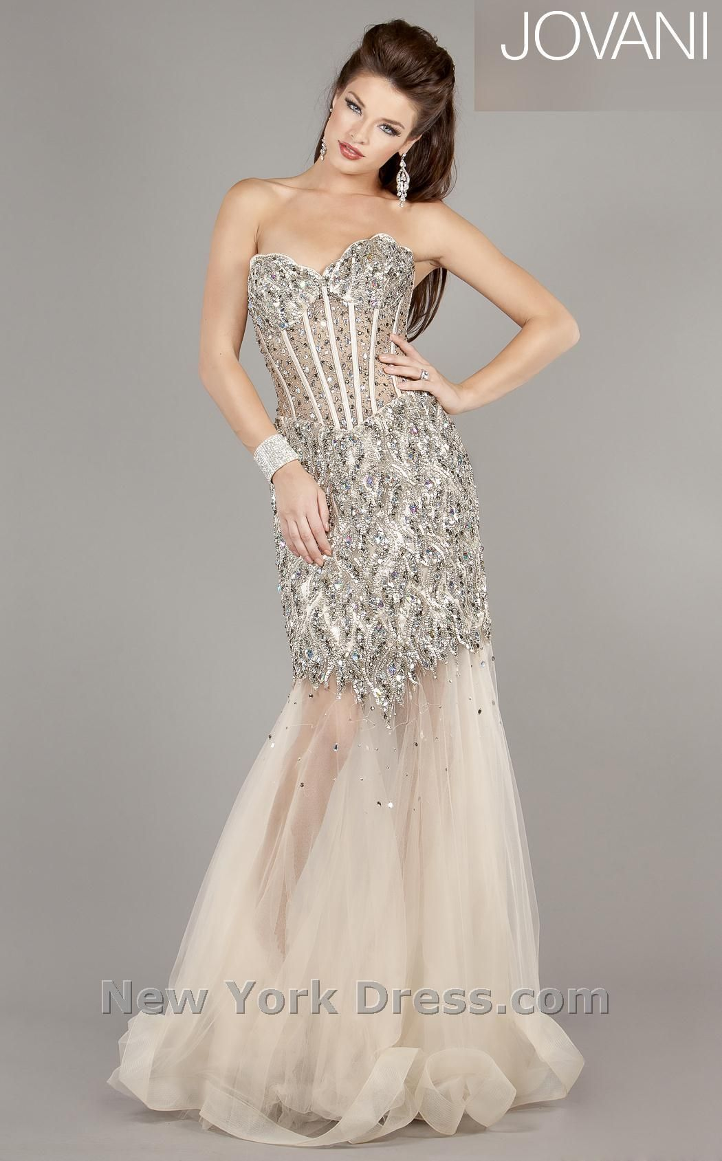 Strapless gown by jovani cbprom pinterest strapless gown