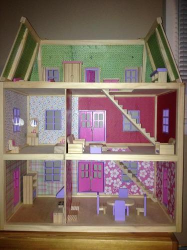 Amazoncom Melissa Doug Multi Level Wooden Dollhouse Toys