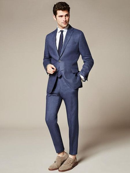 banana-republic-blue-modern-slim-fit-navy-linen-suit-jacket ...
