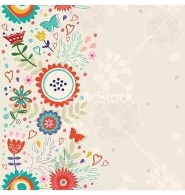Elegant floral background vector by Olillia on VectorStock®