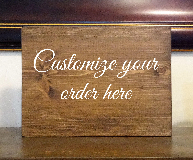 Custom Wood Signs Graduation Plaque Birth Plaque Wedding