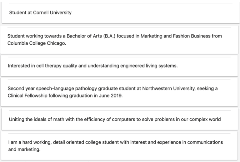 5 Stunningly Good Graduate Student Linkedin Summary Examples Linkedinsights Com Linkedin Summary Examples Linkedin Summary Student