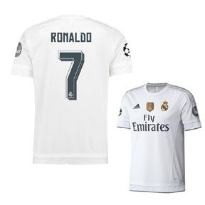 636149d8c65 adidas Youth Real Madrid Ronaldo  7 UCL Soccer Jersey (15 16 ...