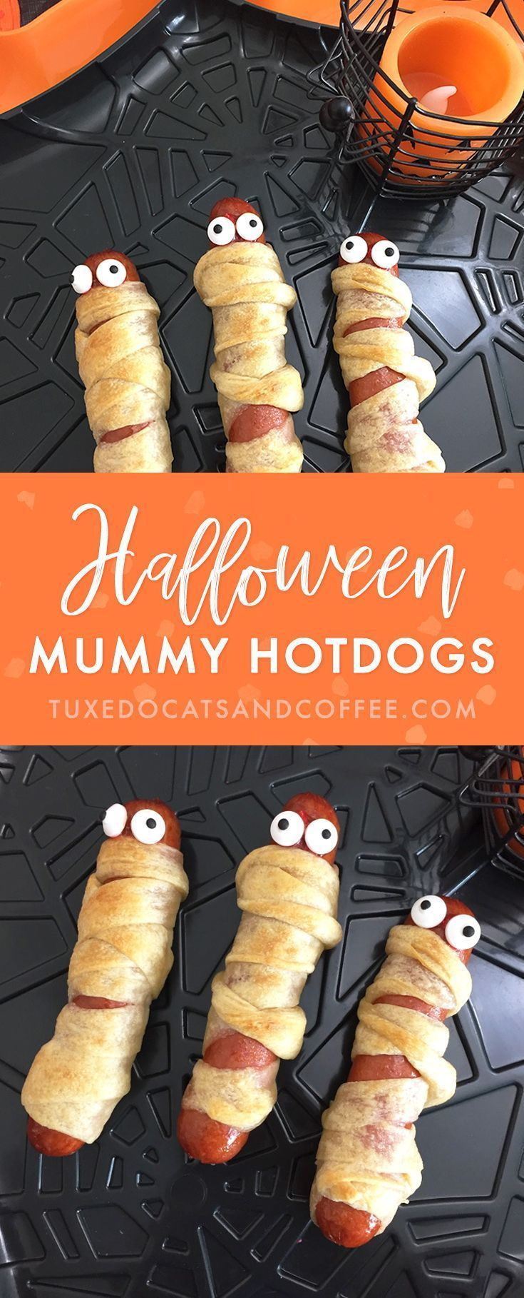 Easy Halloween Party Snacks #mummyhotdogscrescentrolls These cute Halloween mummy hotdogs are super easy to make and they're a fun snack or appetizer for a Halloween party! All you need is hotdogs and some crescent roll dough to make these Hallo-weenies. #mummyhotdogscrescentrolls Easy Halloween Party Snacks #mummyhotdogscrescentrolls These cute Halloween mummy hotdogs are super easy to make and they're a fun snack or appetizer for a Halloween party! All you need is hotdogs and some crescent #mummyhotdogscrescentrolls