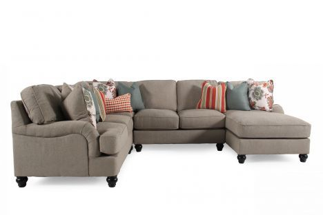 Ash 26300 Sect Ashley Kerridon Putty Sectional Mathis Brothers