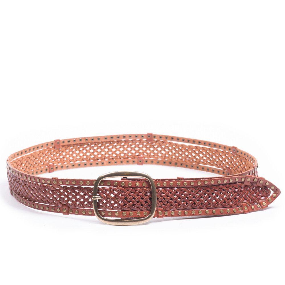 a71ba5e71 Linea Pelle Edge Stud Braided Belt in Cognac Cinto Trançado, Fivela, Cintos  Femininos,