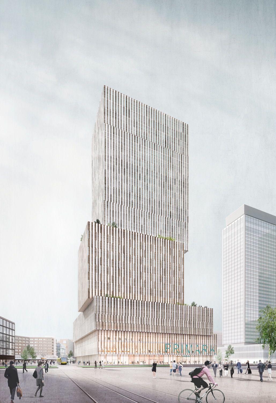 Hochhaus Am Alexanderplatz Plane Aller Neun Wettbewerbsteilnehmer Hochhaus Architektur Visualisierung Wolkenkratzer