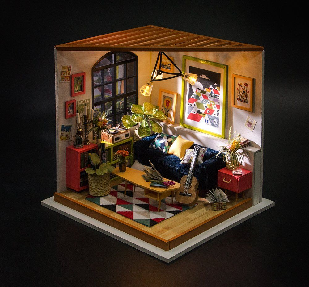 Rolife DIY Mini House Furniture Kit with Furniture and