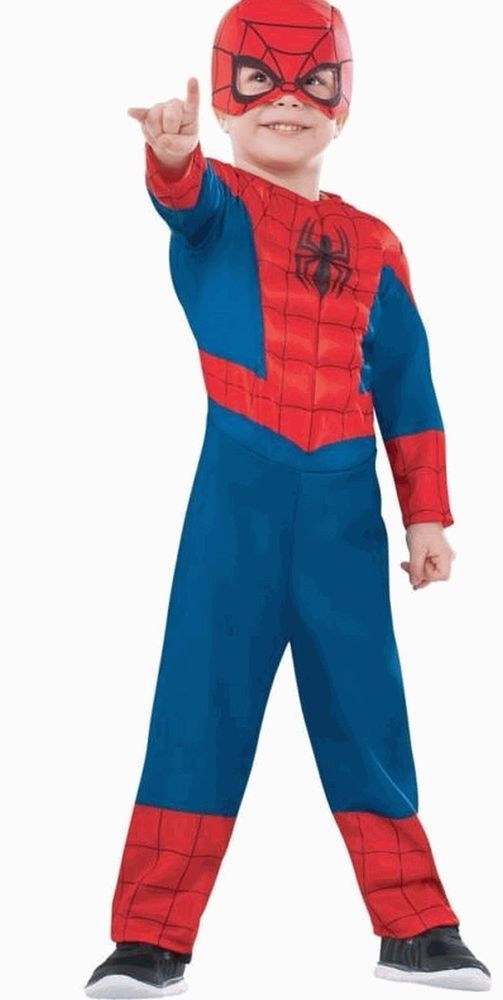 SPIDER-MAN Halloween Costume Toddler Small 2-4 Boys Muscle Chest 2T Ultimate  sc 1 st  Pinterest & SPIDER-MAN Halloween Costume Toddler Small 2-4 Boys Muscle Chest 2T ...