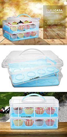 Muffin Storage Containers DuraCasa Cupcake Carrier Cupcake Holder