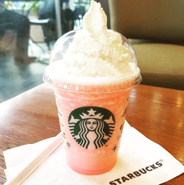 The Cotton Candy Frappuccino At Starbucks Starbucks Kids