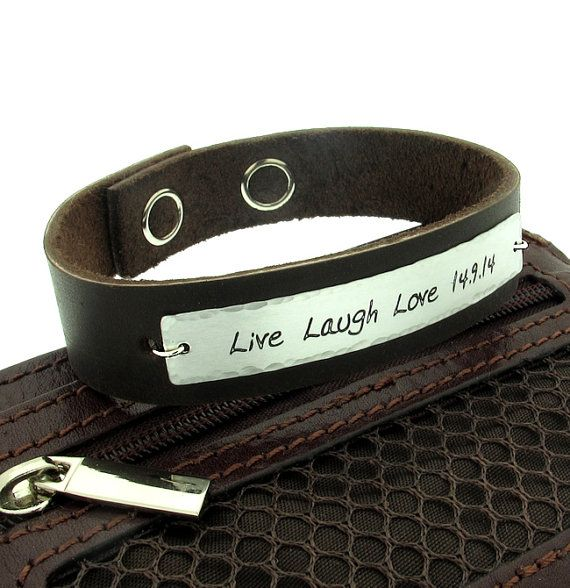 personalized fathers bracelet custom engraved mens