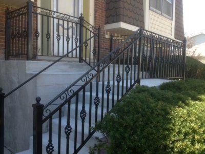 fun wrought iron staircase. Iron Railings and Things in Elmhurst  Illinois Photos of Premier