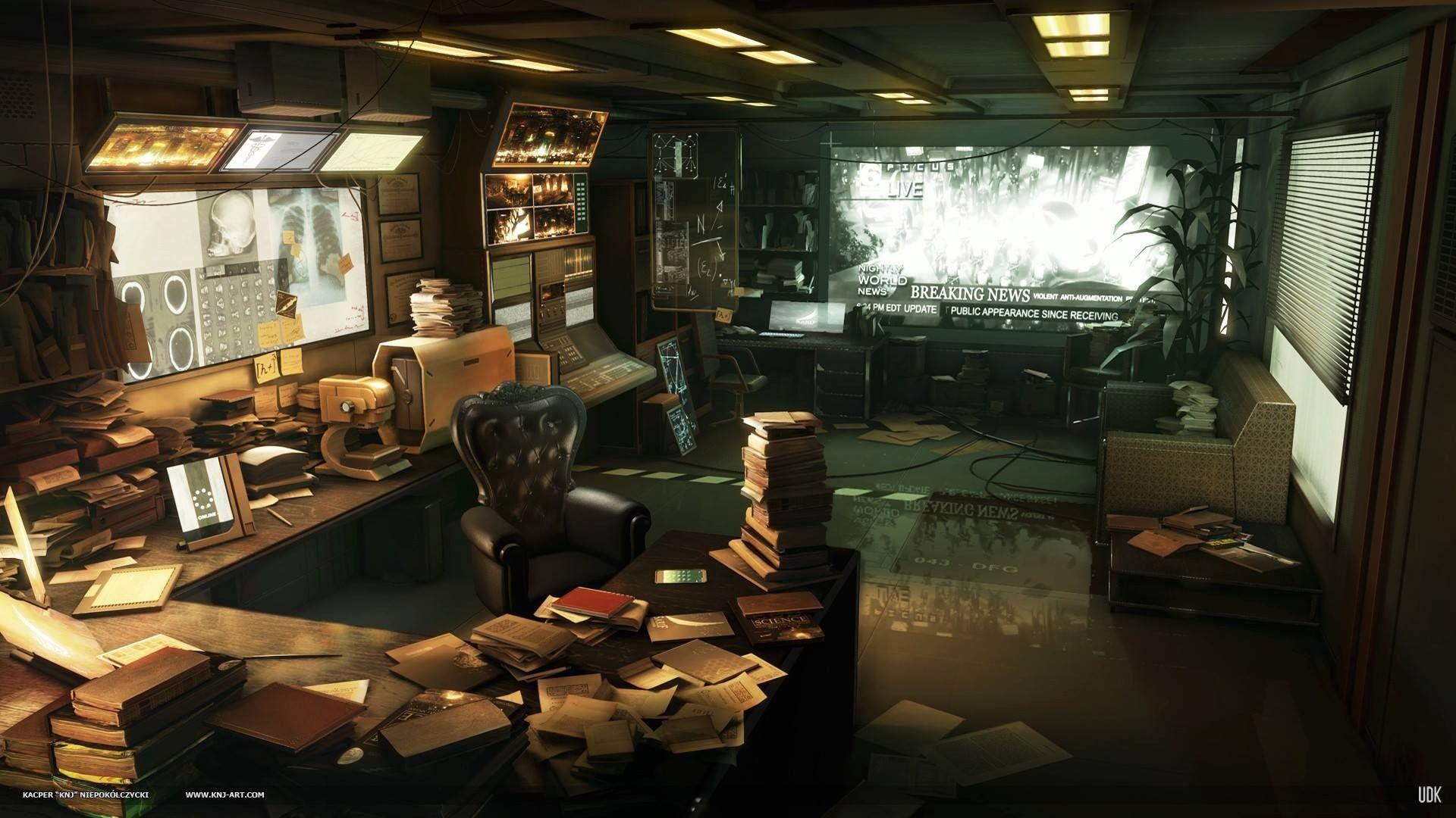 Artwork Deus Ex Human Revolution Video Games Wallpaper Studiya Zvukozapisi Mesta Kiberpank