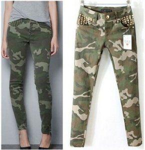 Damskie Spodnie Jeansy Rurki Khaki Moro Cwieki S 5792513383 Oficjalne Archiwum Allegro Fashion Pants