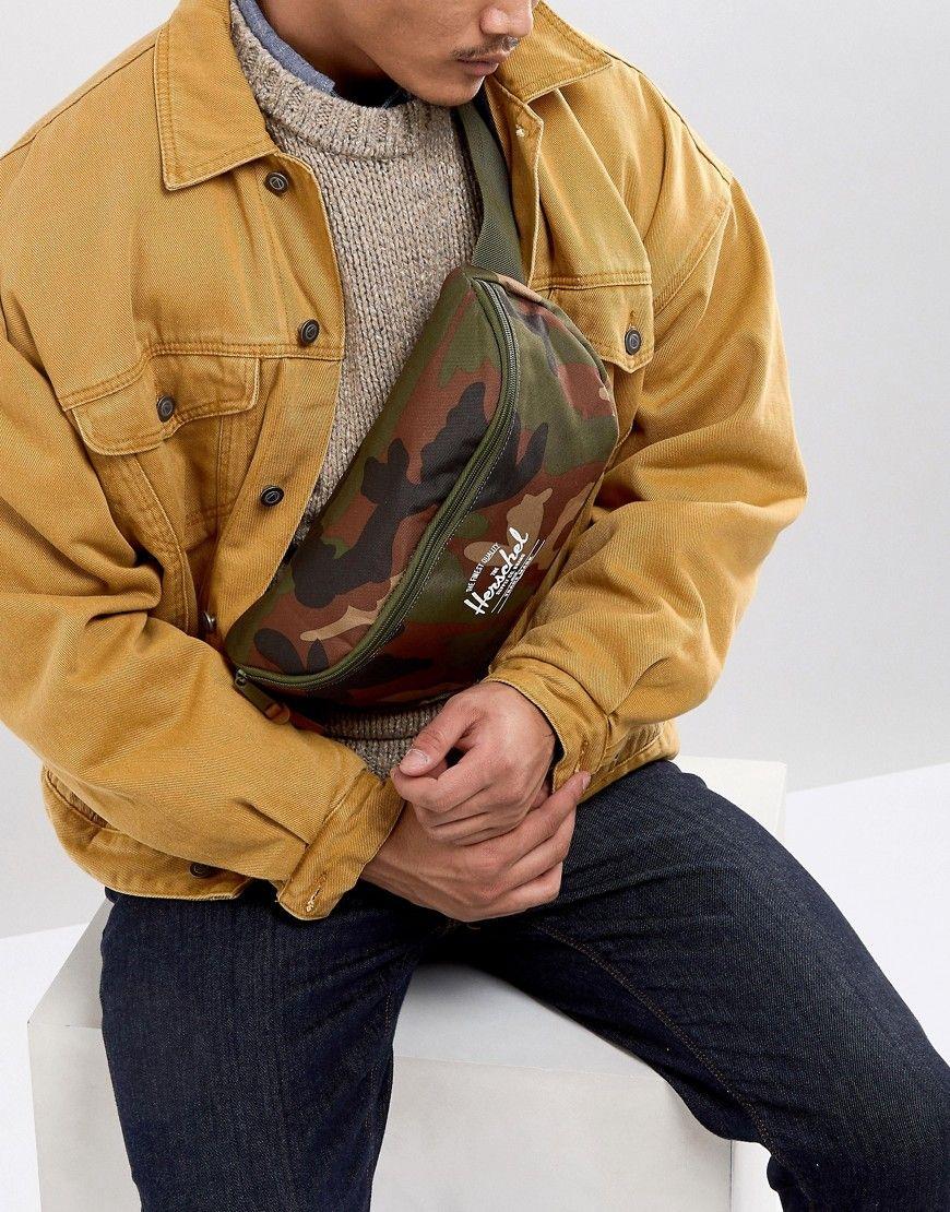 b7821d5fd6c HERSCHEL SUPPLY CO SIXTEEN FANNY PACK 5L IN CAMO - GREEN.  herschelsupplyco   bags  belt bags  lining