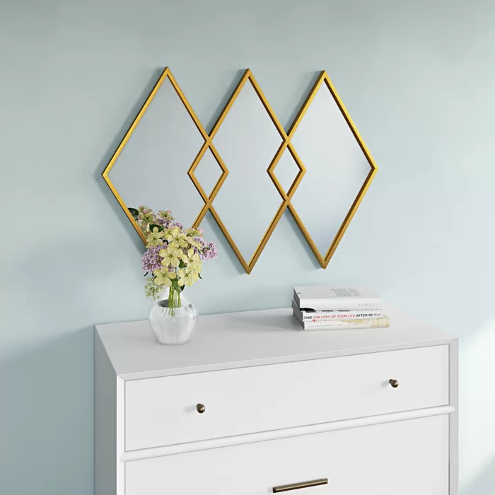Pin By Alyssa Stepien On Gifts For Me Diamond Wall Accent Mirrors Mirrors Wayfair