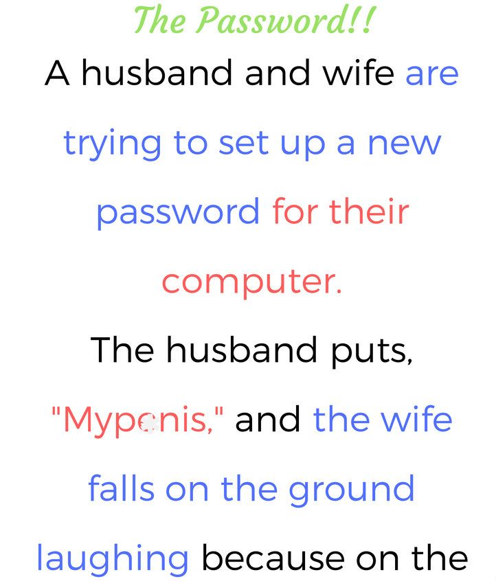Husband Wife Trying To Set A New Password Funny Stories Funny Quotes Wife Humor