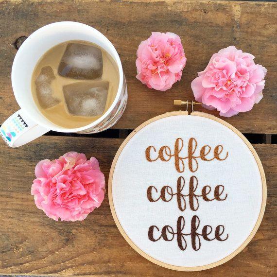 Café café broderie cerceau d