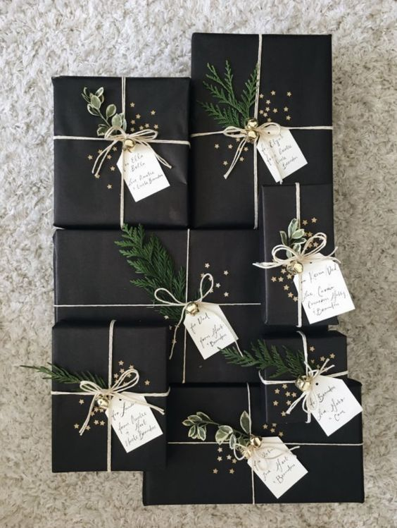 25 Minimalist Christmas Gift Wrapping Ideas »