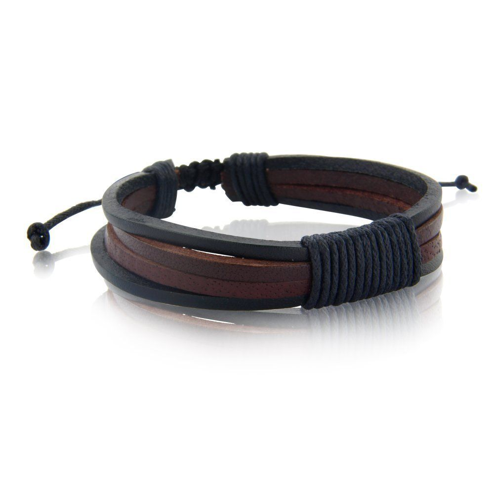 Gift Idea S Mens Ladies Leather Bracelet Brown Black Mens Fashion Bracelet Includes A Gift Bag Amazon Co Uk Jewell Deri Bileklikler Aksesuarlar Deri Erkek