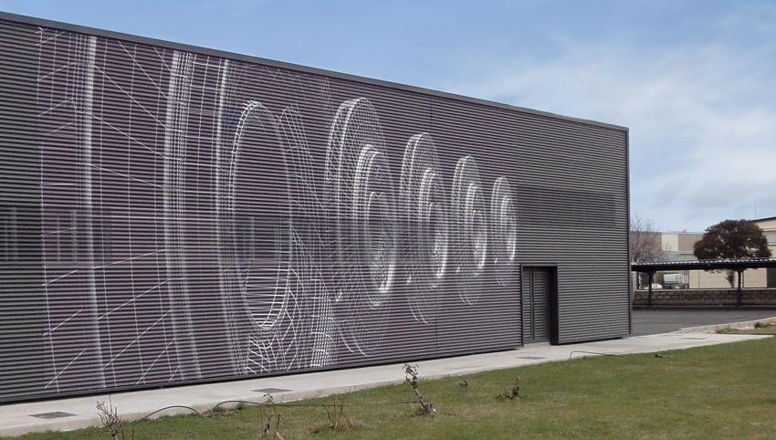 Chapa plegada fachada buscar con google grandes - Fachada nave industrial ...