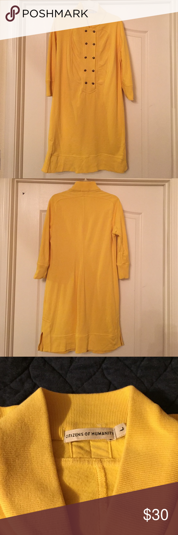 Citizens of Humanity yellow tunic sweater Citizens of Humanity ...