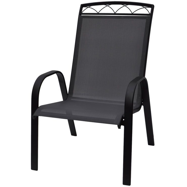 Sling Chair With Header Grey Sling Chair