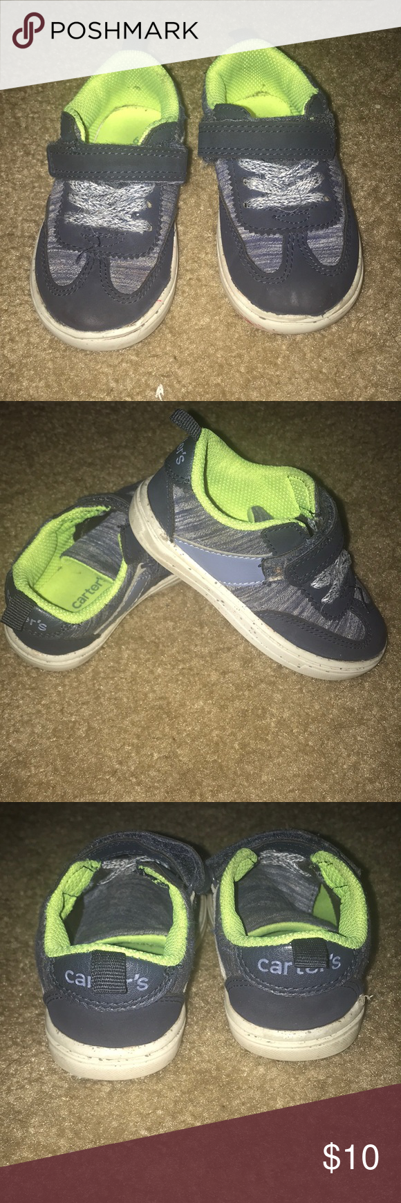 Carters Toddler Boys Shoe Set Of Previously Loved Toddler Boys Carter Shoes These Are A Size 6 They Have A Velcro Closure Still Lot Toddler Boy Shoes Boys Shoes Toddler Boys