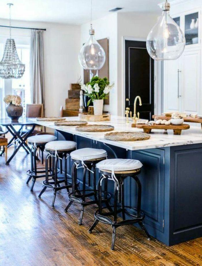 1001 id es pour une cuisine bleu canard les int rieurs qui font un grand effet cuisine. Black Bedroom Furniture Sets. Home Design Ideas