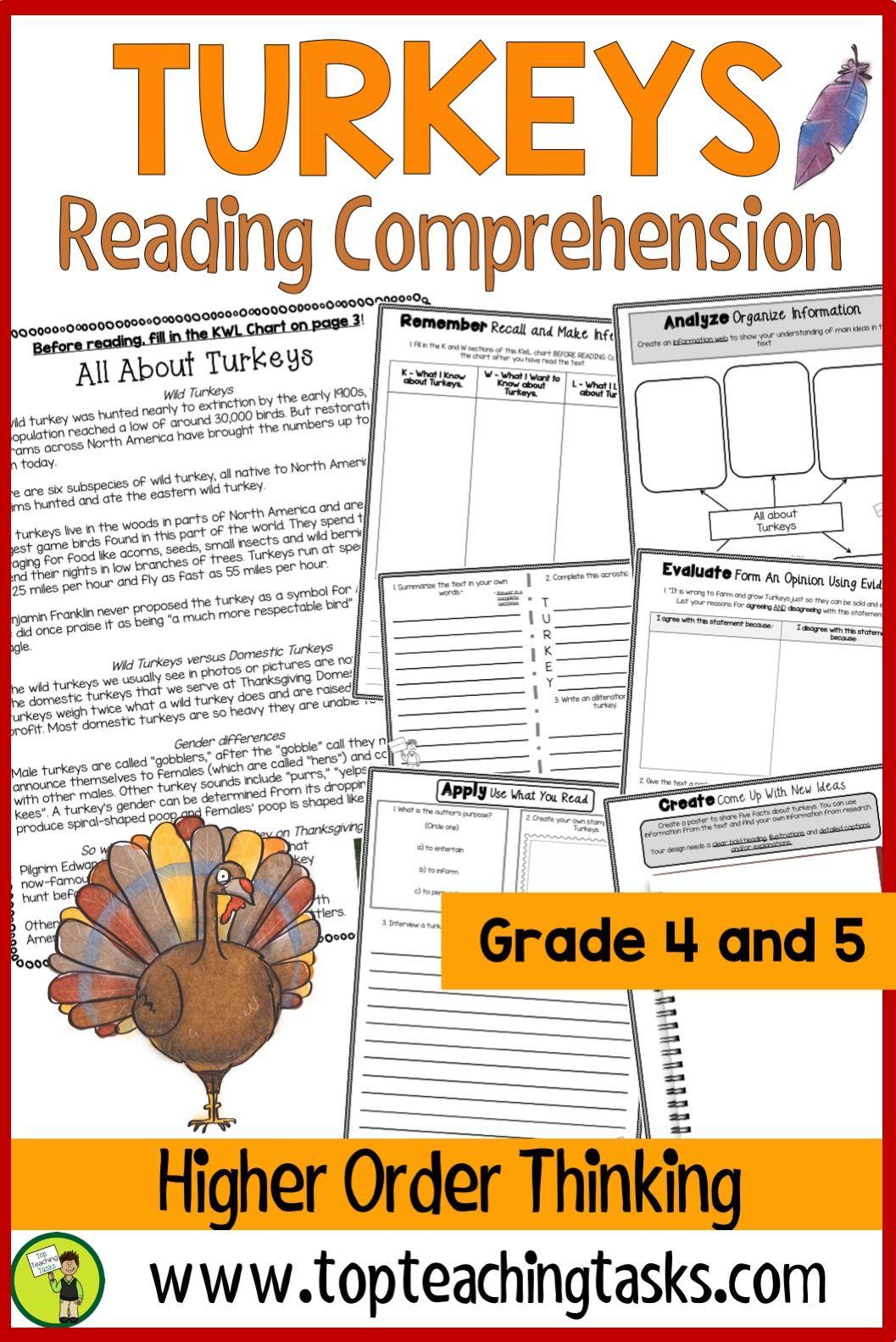 Turkeys Reading Comprehension Reading Comprehension Reading Comprehension Passages Comprehension Passage [ 1583 x 1057 Pixel ]