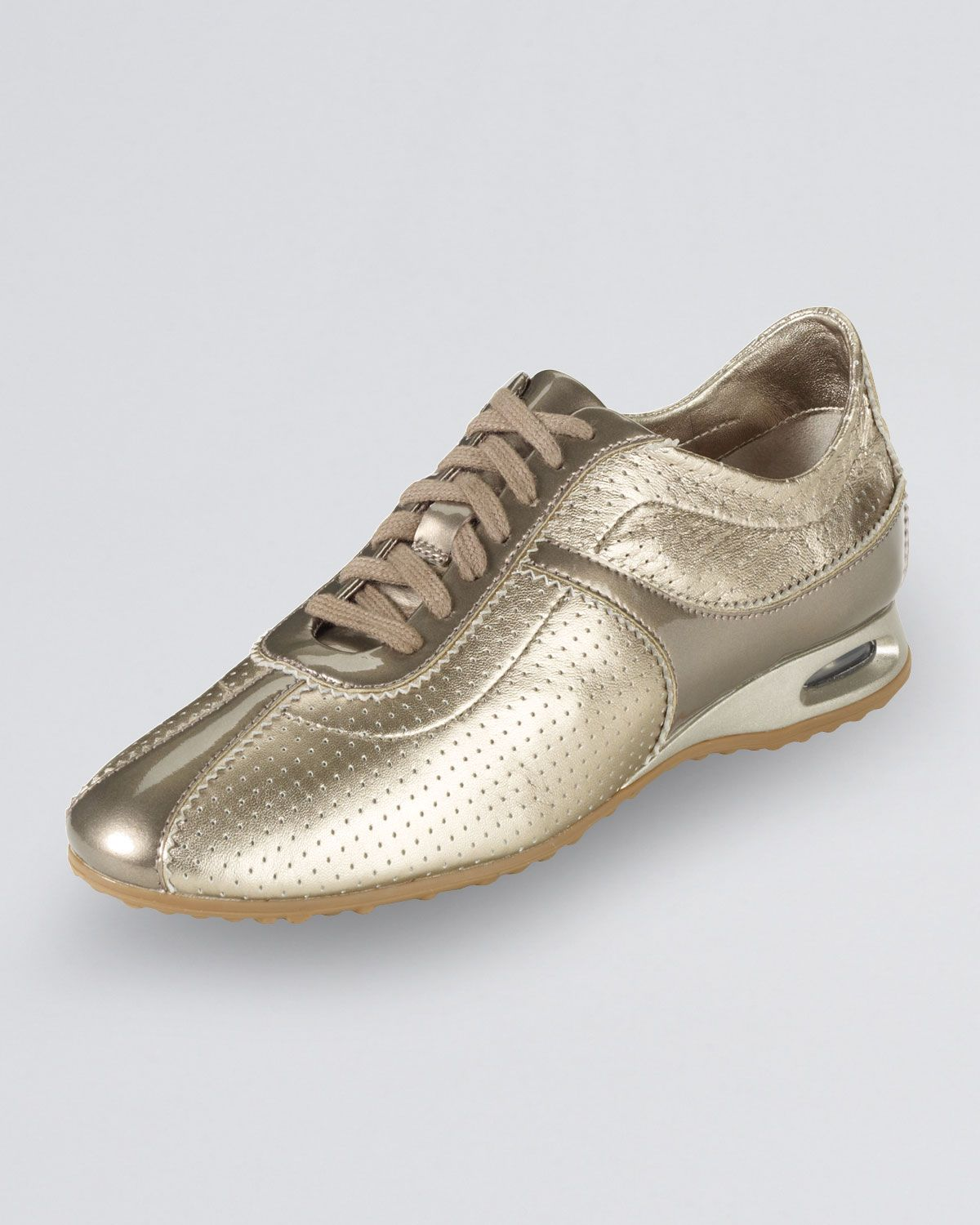 Air Bria Perforated Oxford Sneaker, Vintage Silver by Cole Haan at Neiman  Marcus.
