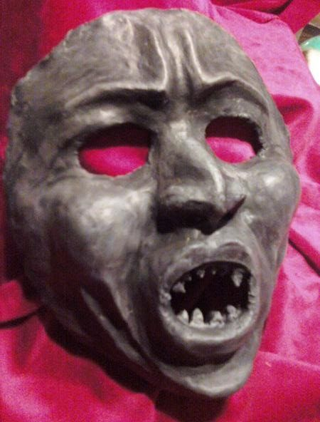 Scary Paper Mache Mask Face