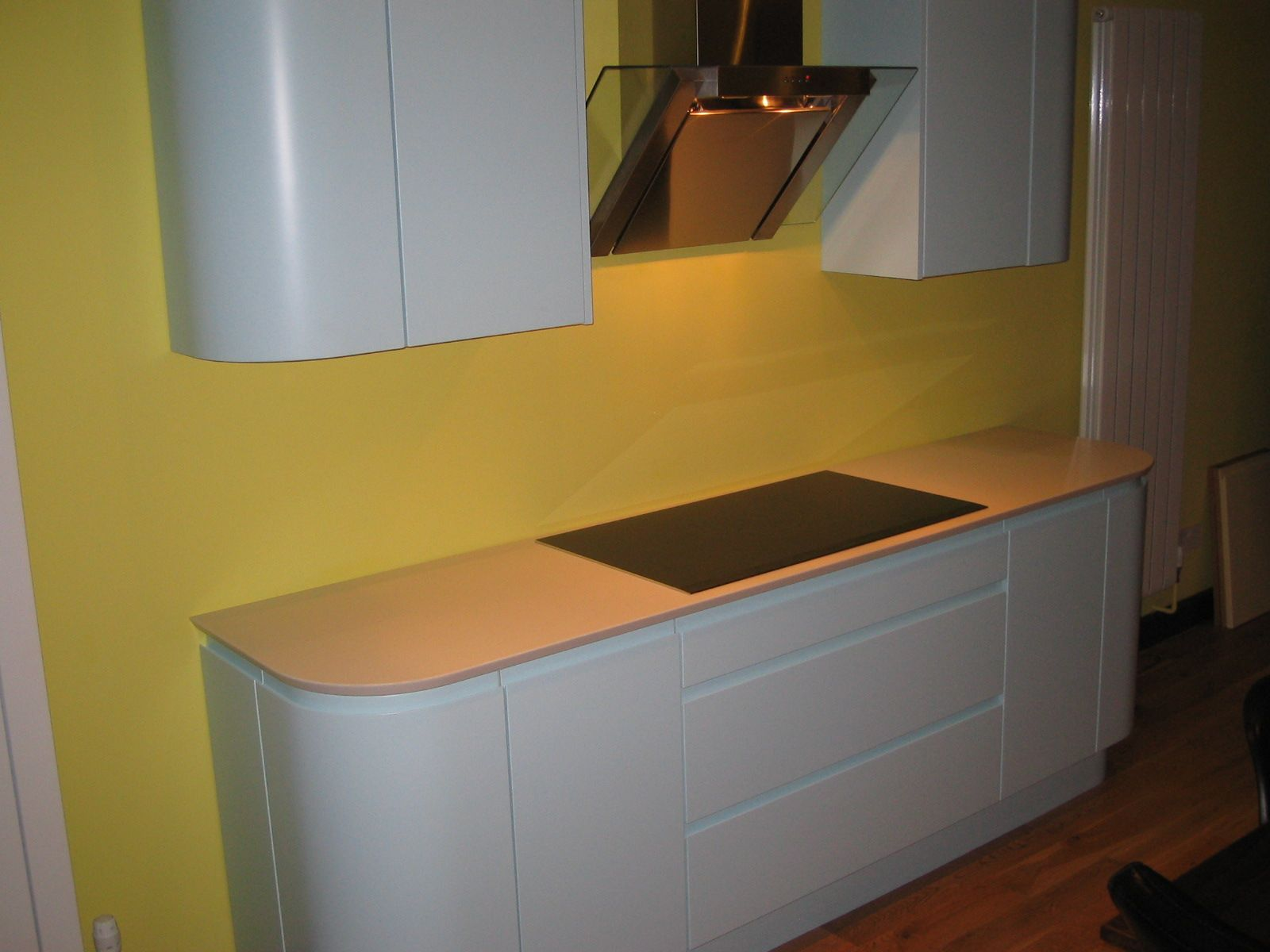 Love the shock of yellow! MISTRAL Kitchen Worktops from NESP