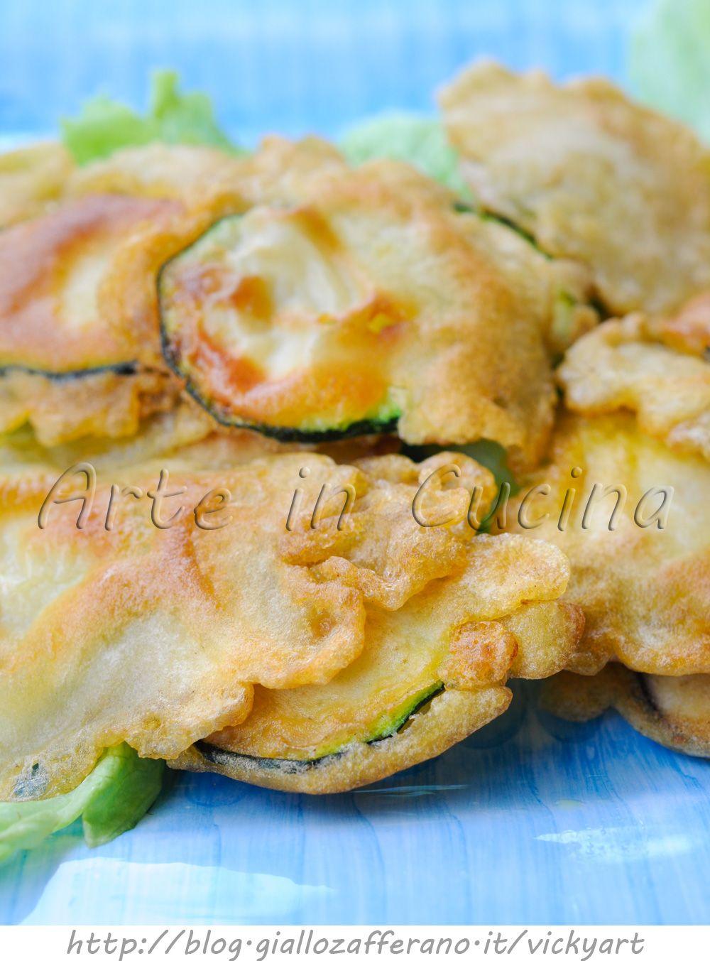 Zucchine in pastella con parmigiano veloci frittura con for Cucinare vegetariano