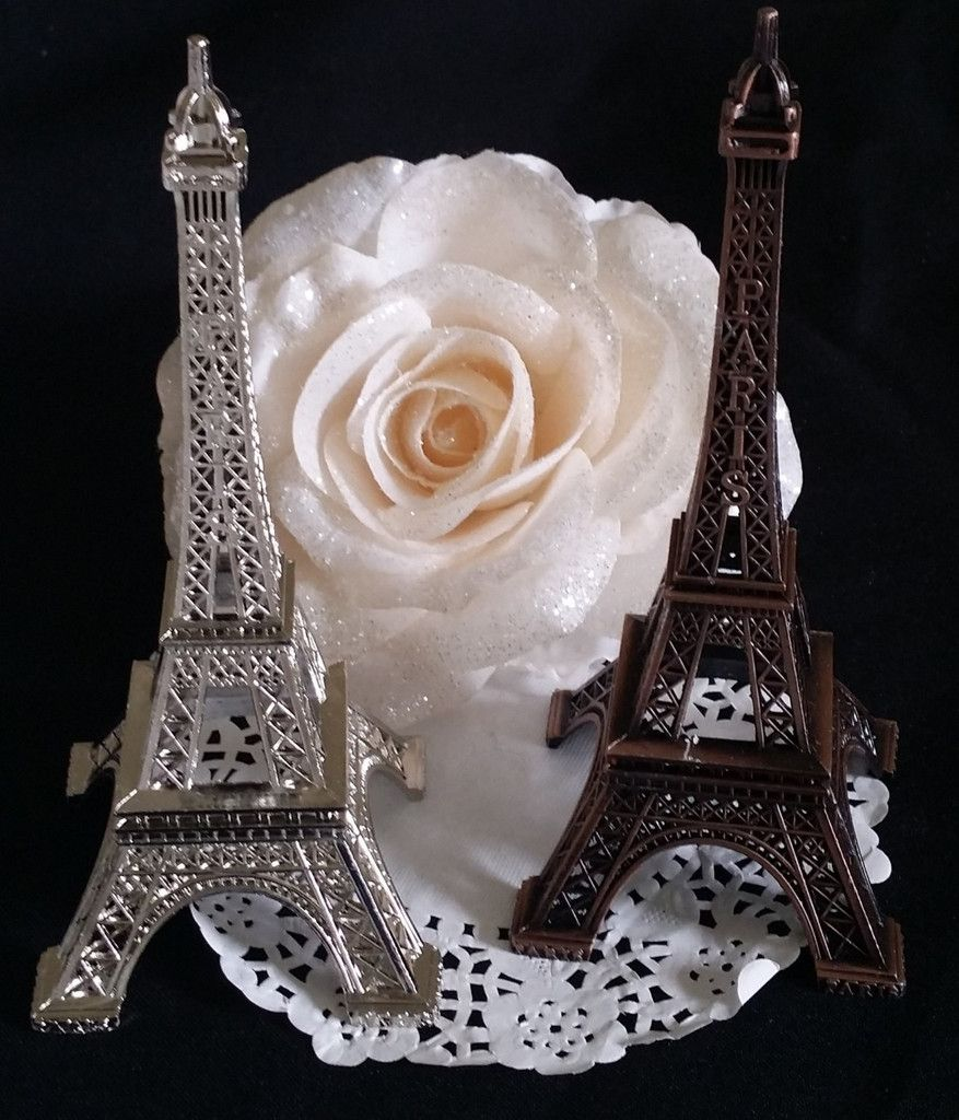 paris wedding cake topper eiffel tower cake topper wedding favor 18118