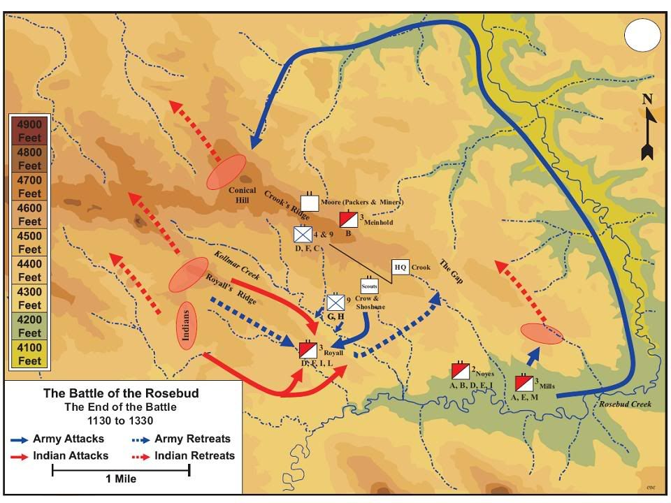 Battle of the Rosebud Bing Images Gen George A Custer 7th