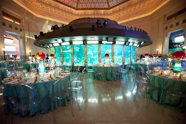 Sea Jelly Soiree Shedd Aquarium Gala The Centerpieces Are Full Of Colour And