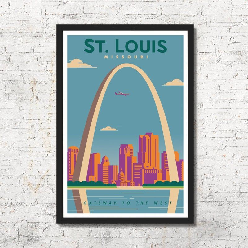 St Louis St Louis Poster St Louis Wall Art St Louis Art