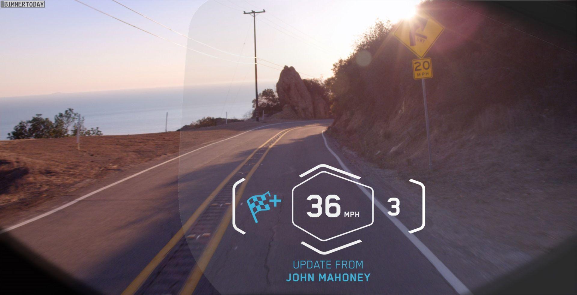 BMW Motorrad gewährt auf der CES 2016 einen Ausblick auf Zweirad-Technik der Zukunft. Laser-Scheinwerfer sind dabei ebenso möglich wie ein Helm mit HUD.