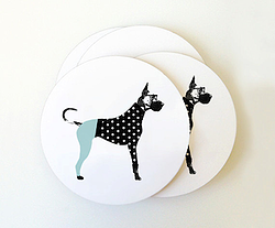 Great Dane Coasters Set Of 4 Via Fancy Huli Designer