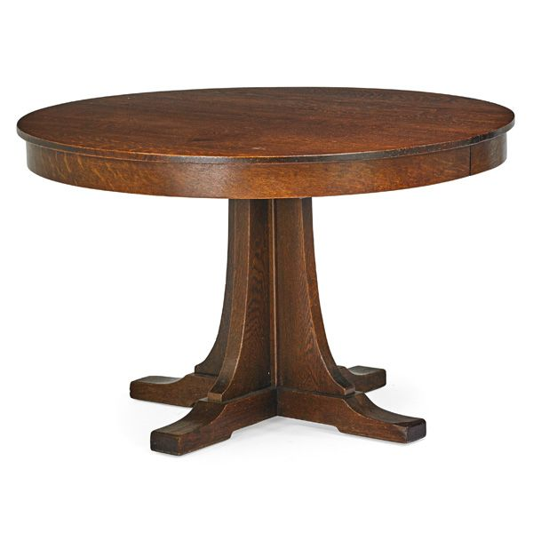 L JG STICKLEY Dining Table Fayetteville NY Ca 1910