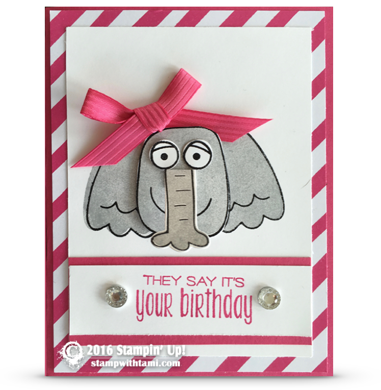 BLOG HOP & VIDEO: Playful Pals Part 1: Ellie the Elephant Card | Stampin Up Demonstrator - Tami White - Stamp With Tami Crafting and Card-Making Stampin Up blog
