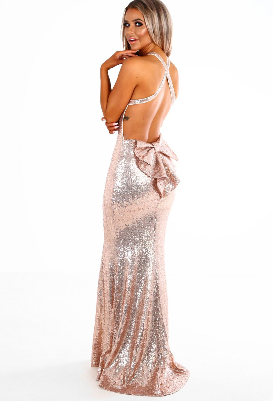 261dd8215ec6 Imogen Rose Gold Sequin Backless Maxi Dress - 8 | Wedding | Dresses ...